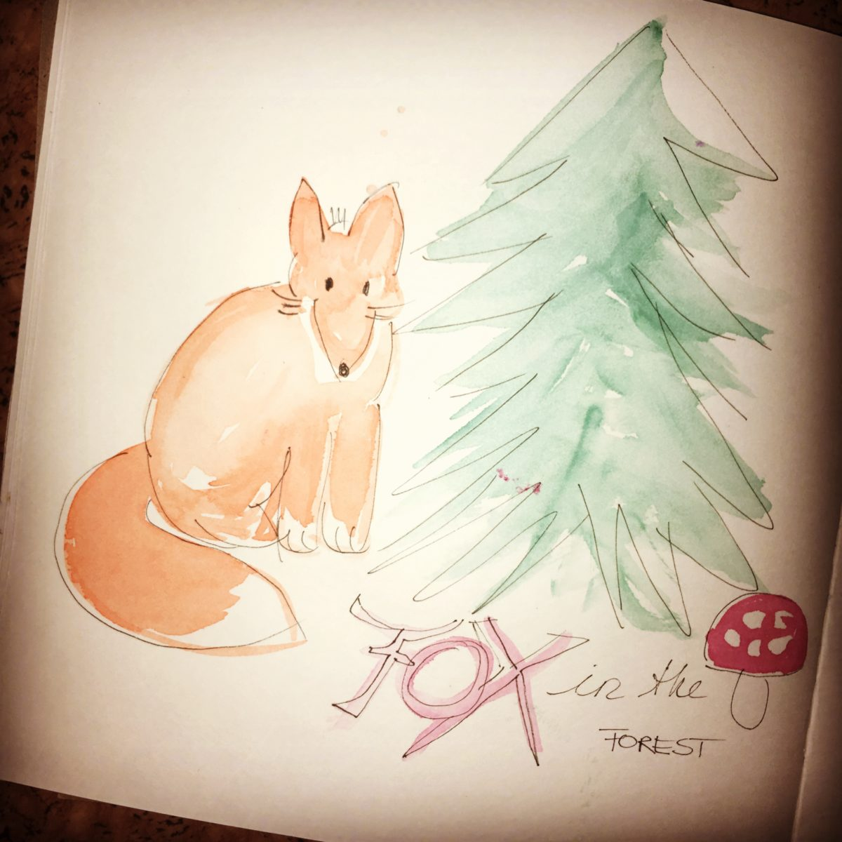 fox and tree