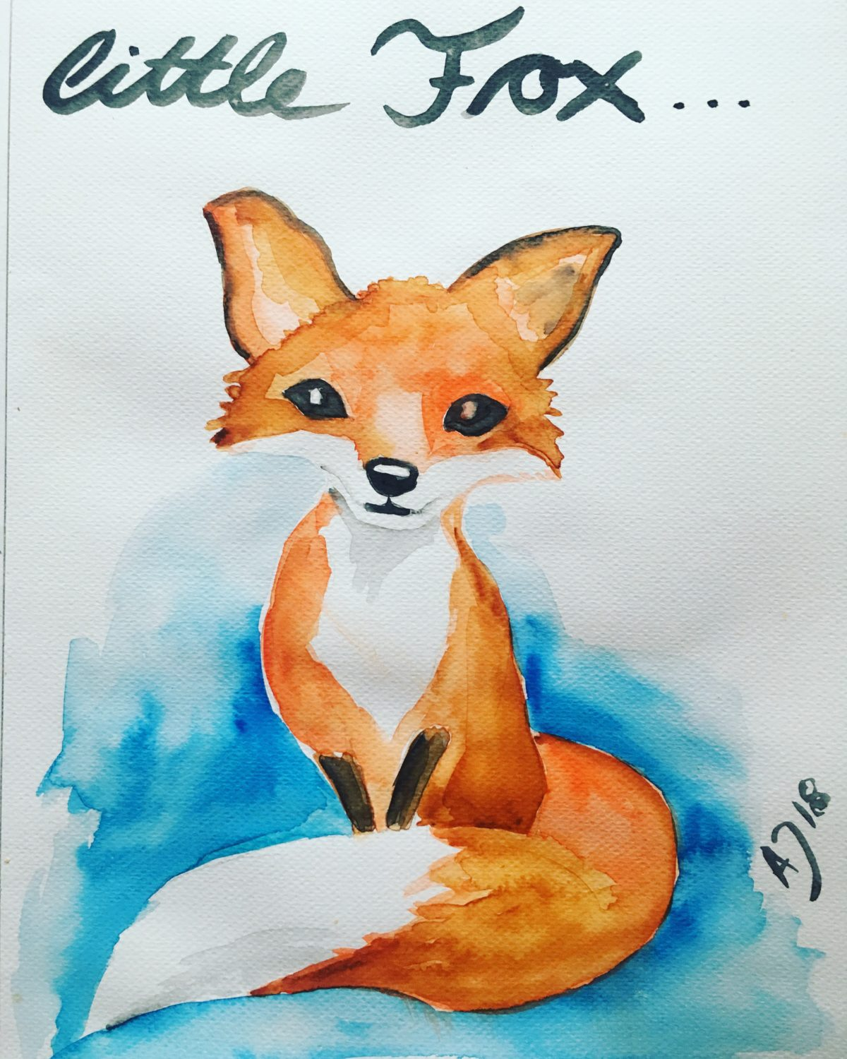 Litte Fox watercolor